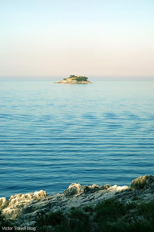 View from the island Sveta Katarina. Rovinj, Croatia.