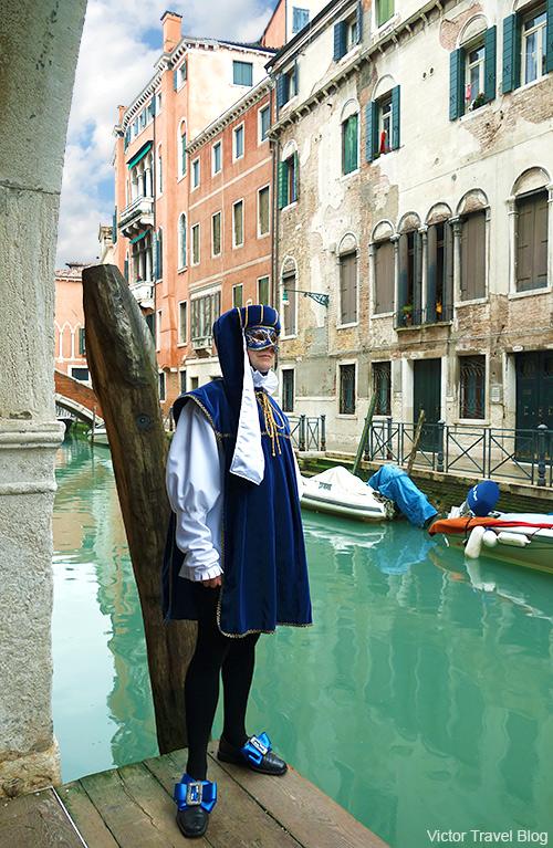 My carnival mask. Venice Carnival. Italy.