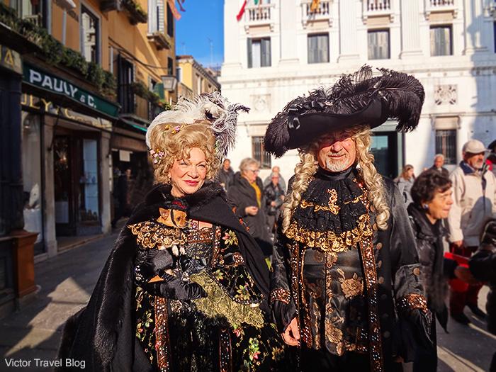 Carnival masks. Venice Carnival. Italy.