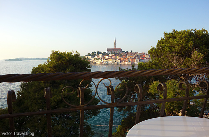 View of Rovinj from the Island Hotel Katarina.