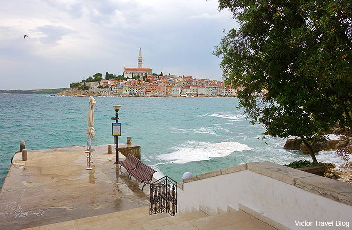 The island of Sveta Katarina. Rovinj, Croatia.