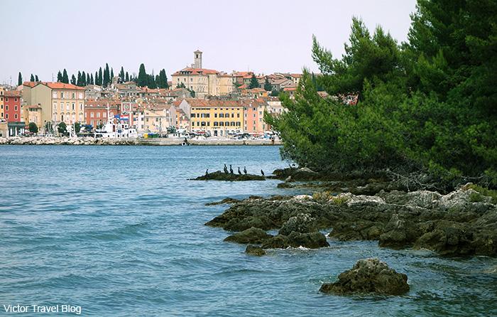 The island of Sveta Katarina. Rovinj, Croatia.