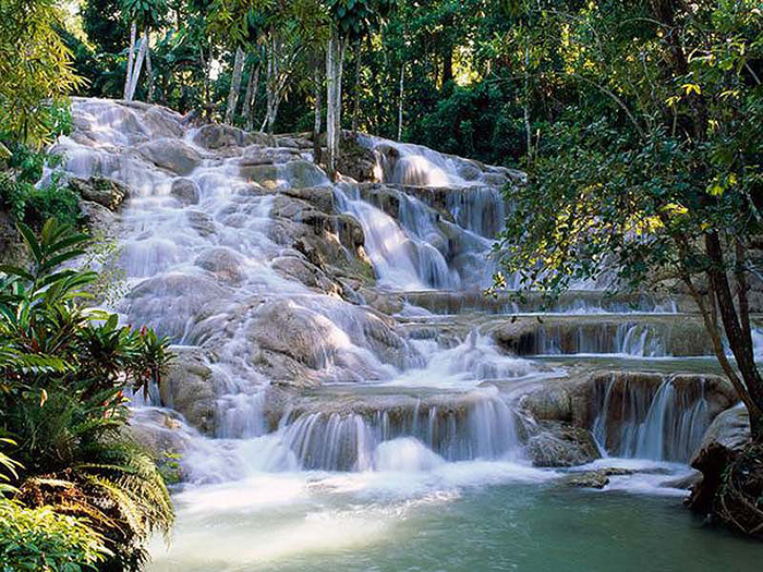 Waterfall. Jamaica.
