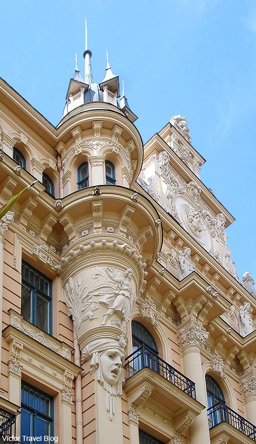 Art Nouveau Style or Jugendstil. Albert Street, 13, Riga, Latvia.