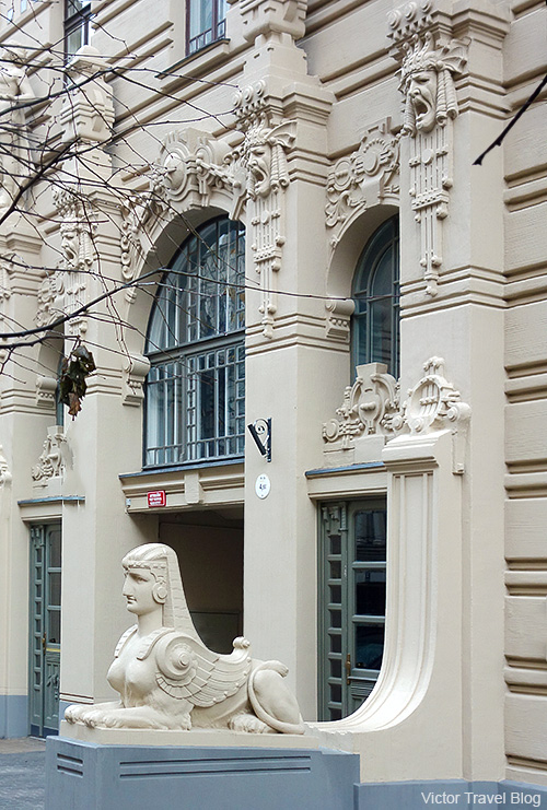 Art Nouveau Style or Jugendstil. Albert Street, 2a, Riga, Latvia.