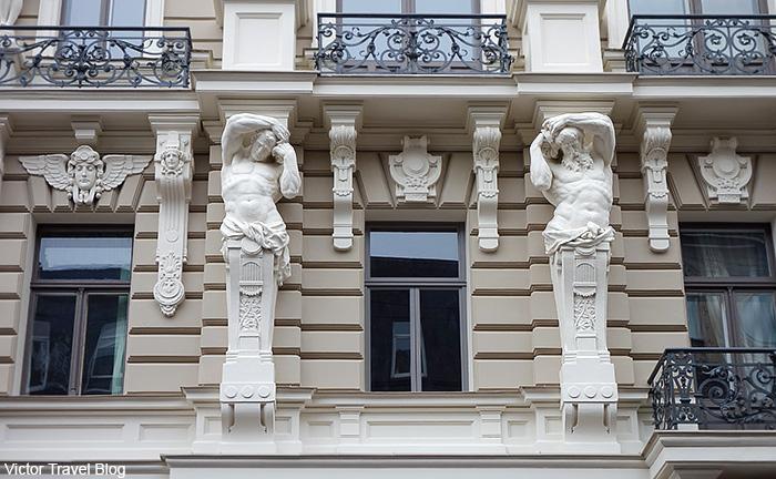 Art Deco architecture style or Jugendstil. Riga, Latvia.