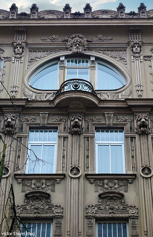 Art Deco architecture style or Jugendstil. Riga, Latvia.