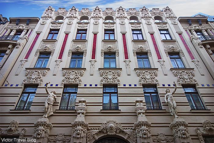 Art Nouveau Design. Albert Street, 2a, Riga, Latvia.
