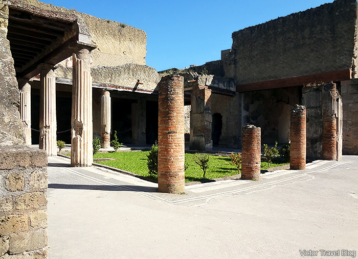 House of the Tuscan Colonnade or Casa del Colonnato Tuscanico. Herculaneum, Italy.