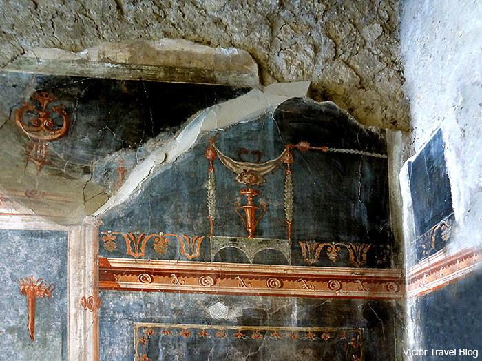House of the Black Hall or Casa del Salone Nero. Herculaneum, Italy.