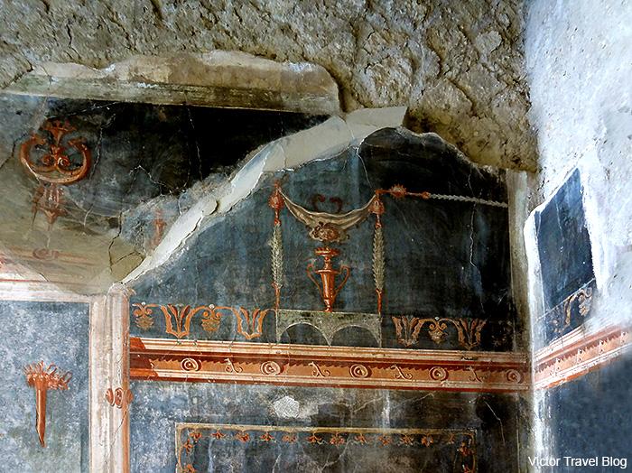 House of the Black Hall or Casa del Salone Nero. Herculaneum, Italy.