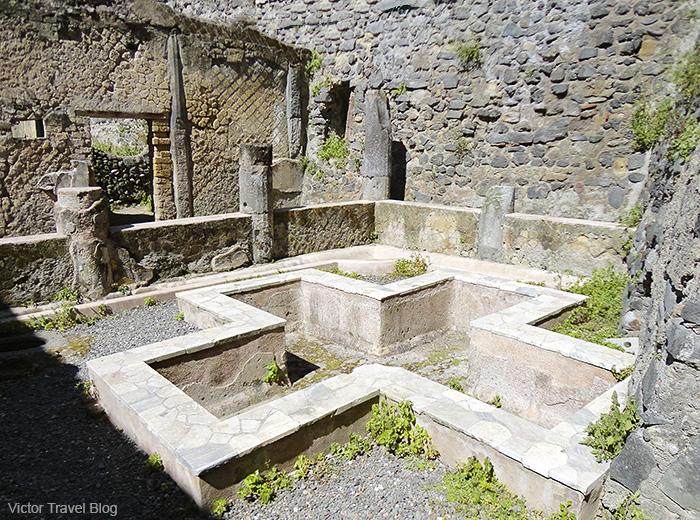 House of Galba or Casa di Galba. Herculaneum, Italy.