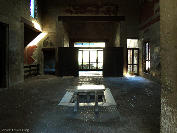 House of the Wooden Partition or Casa del Tramezzo di Legno. Herculaneum, Italy.