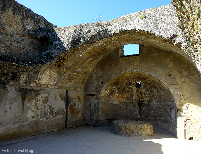 Central thermae in Herculaneum, Italy.