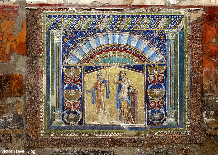 House of the Neptune Mosaic or Casa di Nettuno e Amfitrite. Herculaneum, Italy.