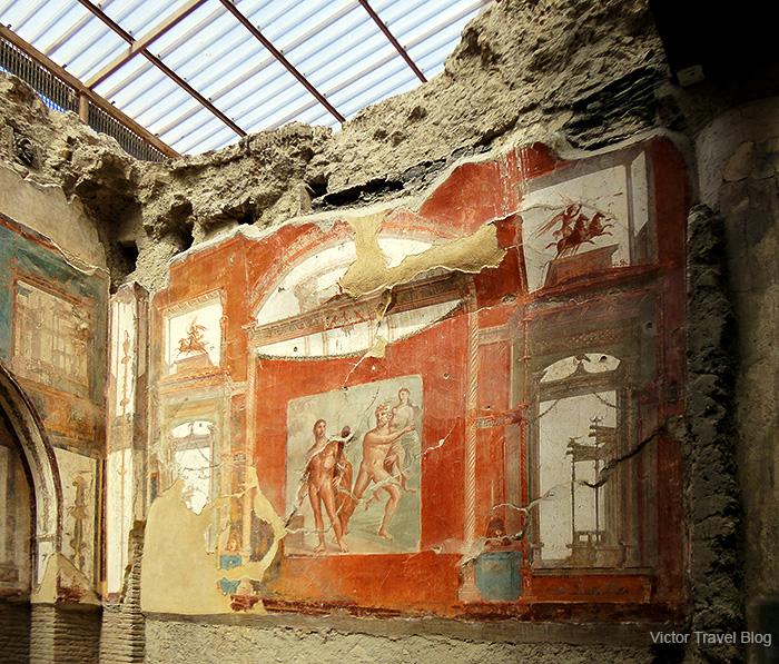 Augustus College or Collegio degli Augustali. Herculaneum, Italy.