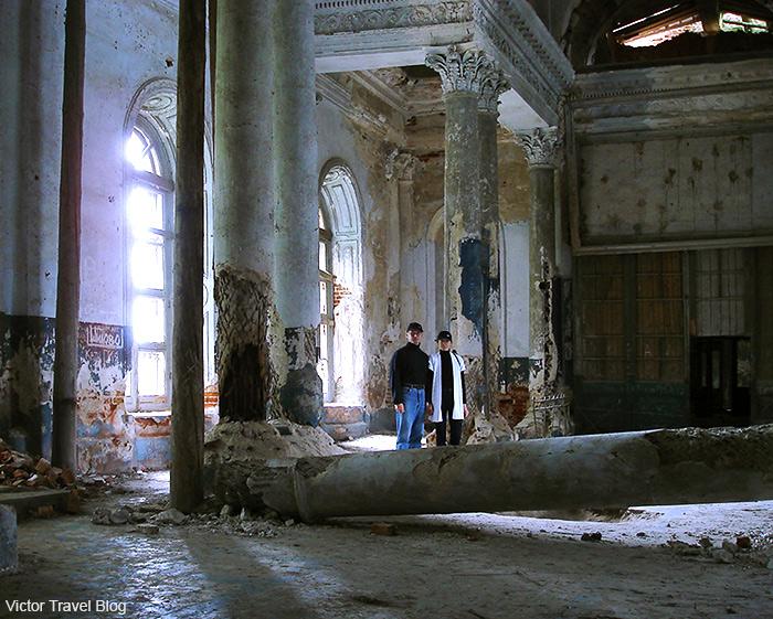 Inside of Russian Kazan Theotokos Church. Chernyshov estate, Yaropolec, Russia.