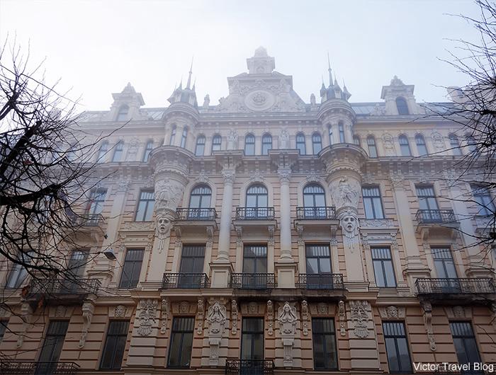 Art Nouveau Style. Albert Street, 13, Riga Latvia.