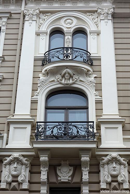 Jugendstil. Riga, Latvia.