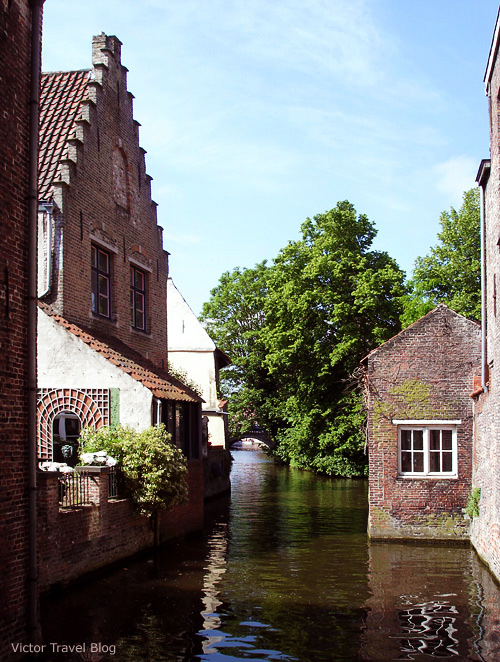 Somewhere in the historical center of Bruges, Belgium.