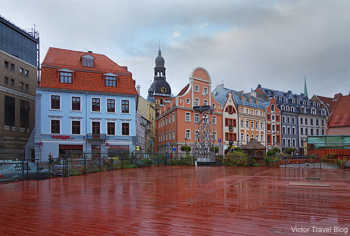 The old town of Riga, Latvia.