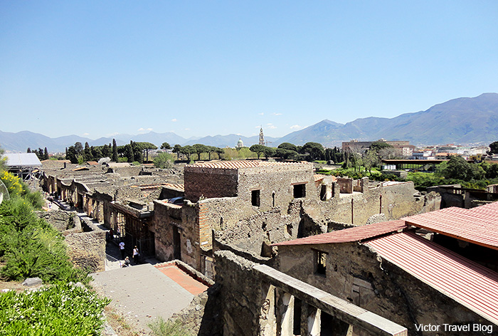 View of Pompeii. Italy.