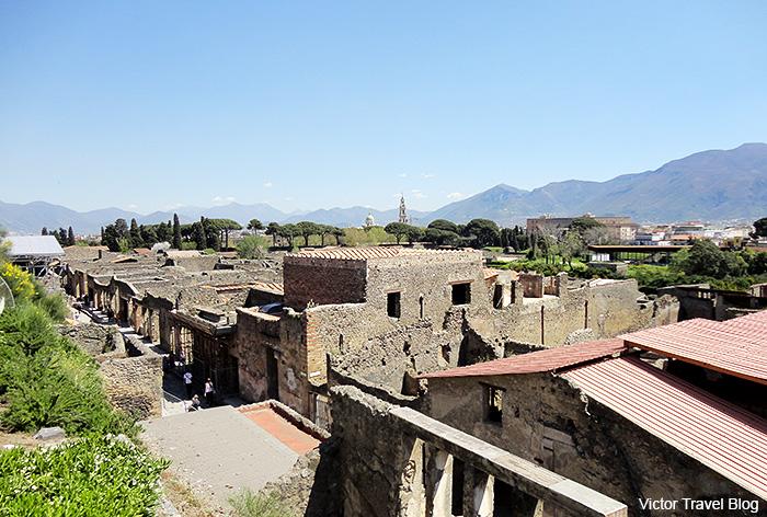 View of Pompeii. Italy.