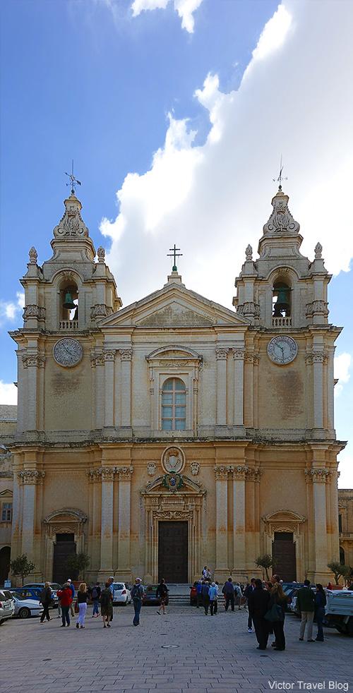 St. Pauls Cathedral. Mdina, Malta.