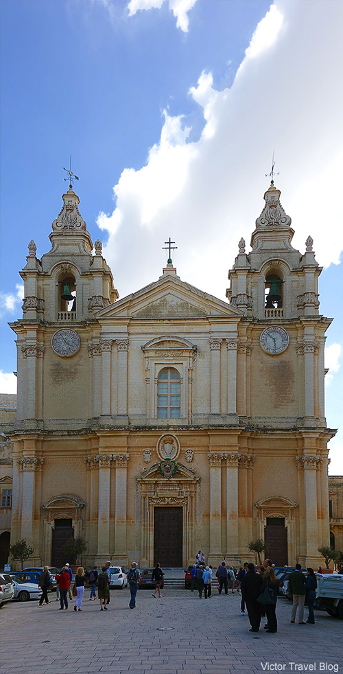 St. Paul's Cathedral. Mdina, Malta.