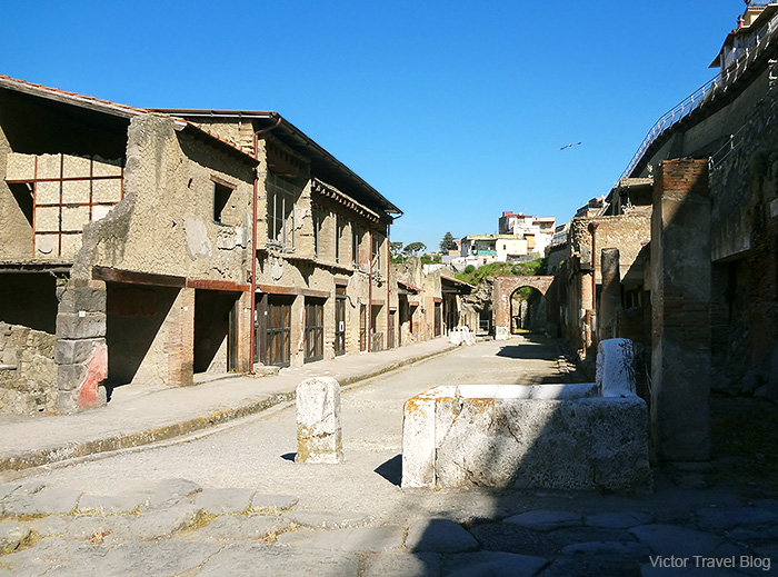 One of the streets of  Herculaneum, Italy.