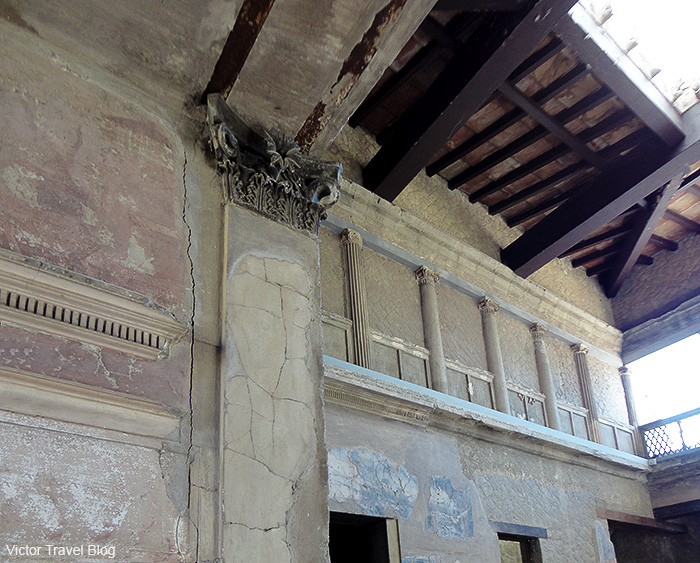 Samnite house or Casa Sannitica. Herculaneum, Italy.