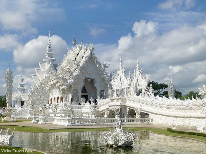 The Wat Rong Khun, Chiang Rai. The Kingdom of Thailand.