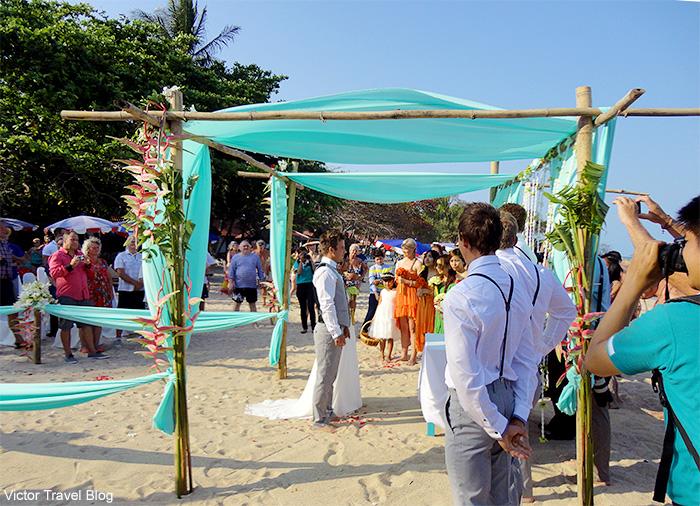 Wedding ceremony on Koh Samui. Thailand.