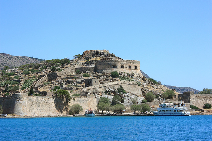 Venetian fortress. The island of Spinalonga, Crete, Greece.