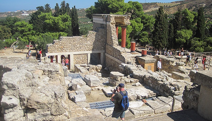 Ruins of the Minoan Palace of Knossos. Crete, Greece.