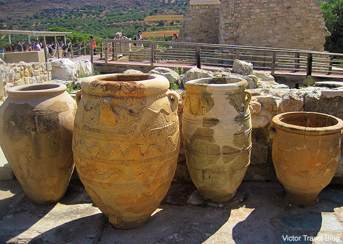 The Minoan Palace of Knossos. Crete, Greece.