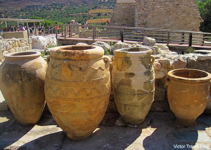 The Minoan Palace of Knossos. Crete, Greece.