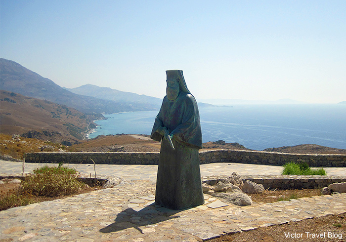 The monument to the soldiers and monks in the Monastery of Preveli. Crete, Greece.