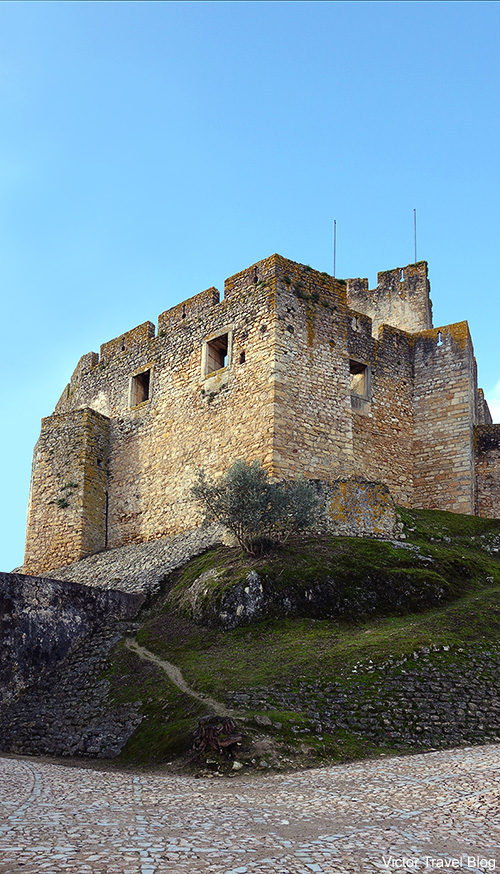 The castle of the Templars in the Convent of the Order of Christ. Tomar, Portugal.