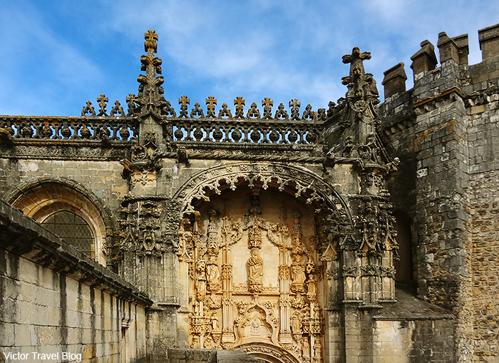 Templar's convent and castle in Tomar, Portugal.
