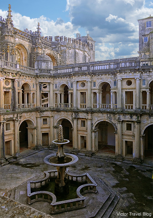 The main cloister of the Convent of the Order of Christ. Tomar, Portugal.
