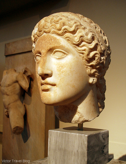 Ancient Greek statue. The National Archaeological Museum of Athens. Greece.