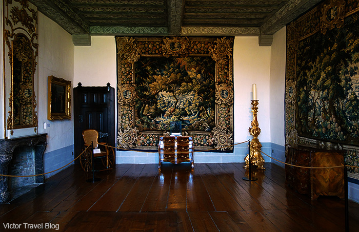 Interior of the Gruyeres Castle. Switzerland.