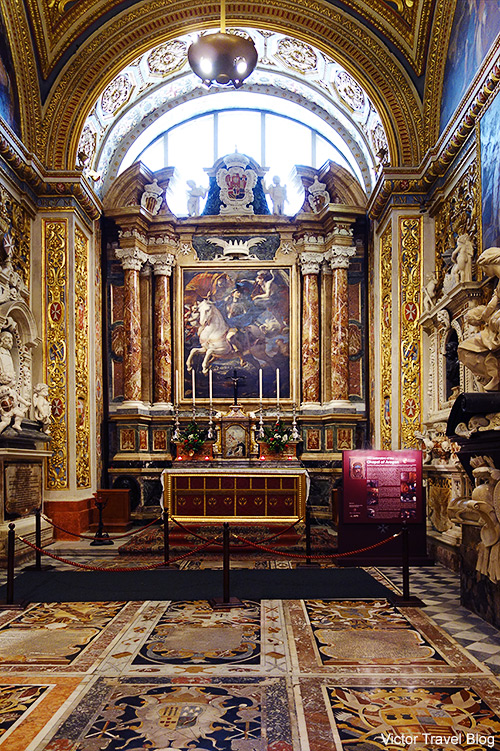 Chapel of Aragon. St John's Co-Cathedral of Valletta, Malta.