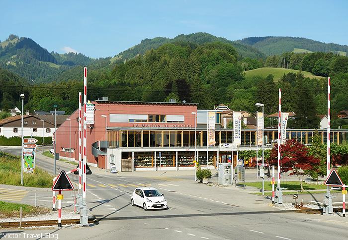 The cheese plant La Maison du Gruyere. Gruyeres, Switzerland.