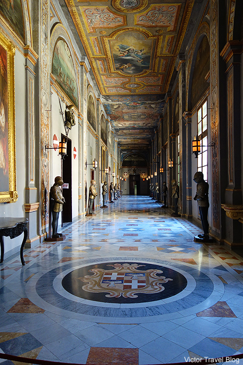 In the Palace of the Grand Master, Valletta, Malta.
