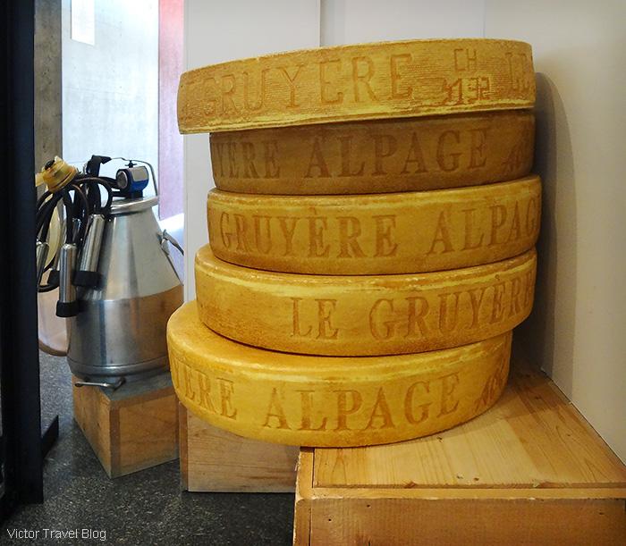 Gruyere cheese. La Maison du Gruyere. Gruyeres, Switzerland.