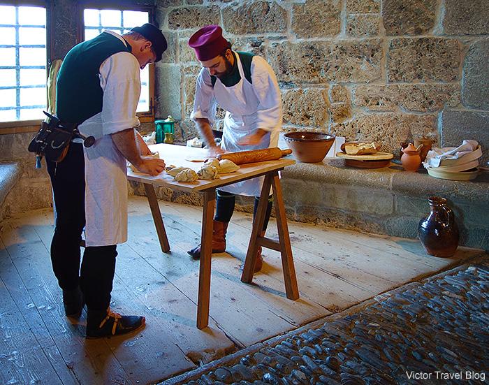 Bakers. Summer solstice celebration in Gruyeres, Switzerland.