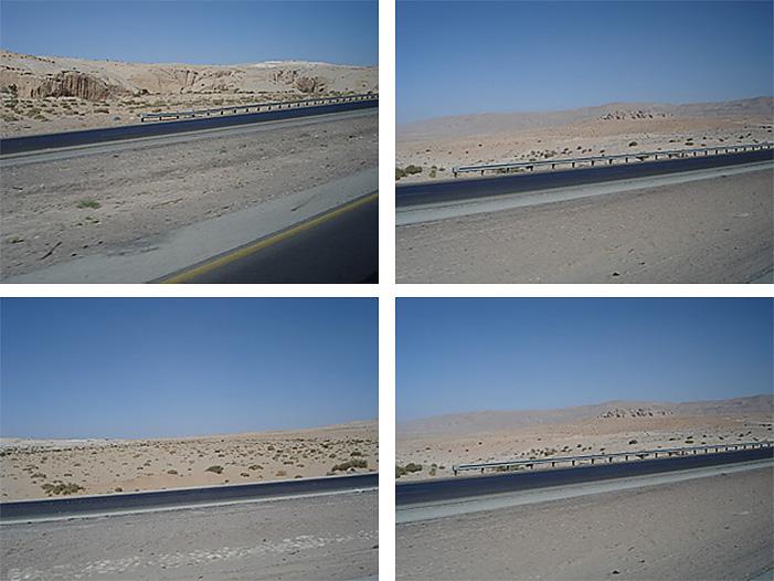 Landscapes of Jordan.