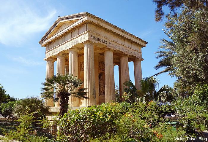 Lower Barrakka Gardens. Valletta, Malta.